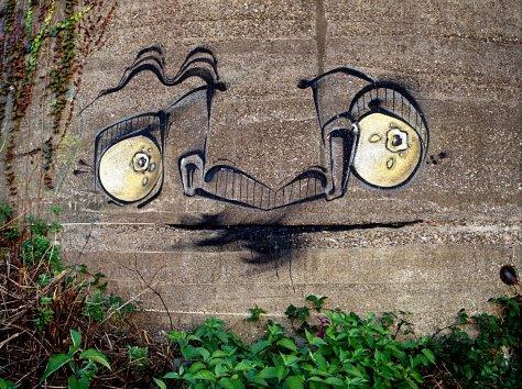 Graffiti auf Winkelbunker Duisburg-Wedau