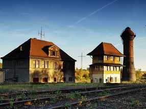 Wasserturm und Stellwerk