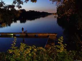 Regattabahn Duisburg, Angler bei Nachtangeln