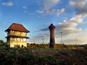 Wasserturm und Stellwerk 2 Duisburg-Wedau