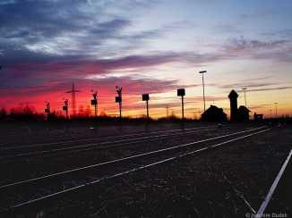 Bahngelände Sonnenaufgang 10.12.2016