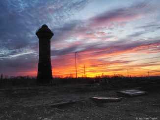 Wasserturm Sonnenaufgang 10.12.2016