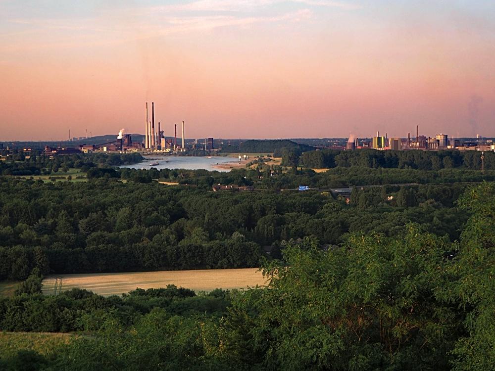 Blick auf Duisburg Walsum