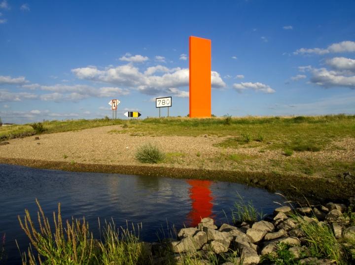 Rhein km 780 - Ruhrmündung - Rheinorange