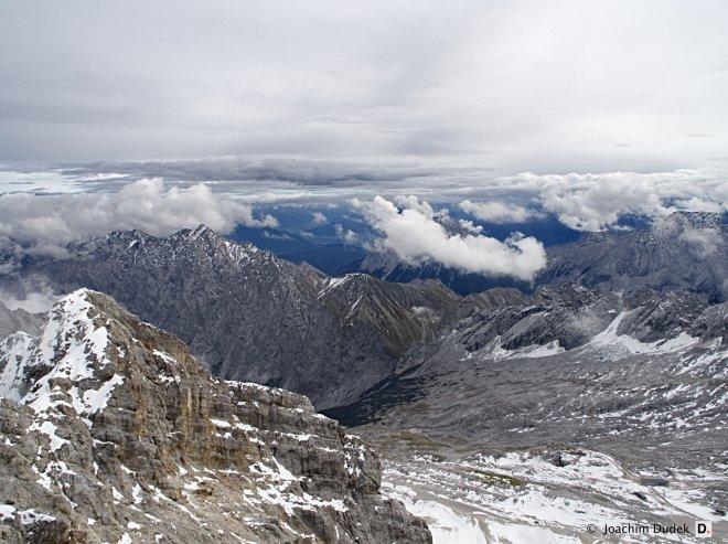 Blick von der Zugspitze