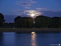 Monduntergang Rheinkilometer 775