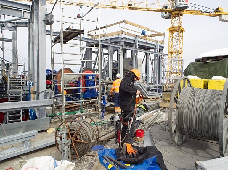 Baustelle Bergstation Zugspitze