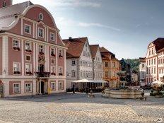 Eichstätt - Marktplatz mit Rathaus